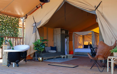 Glamping getaway in Bendigo at Bendooley Estate