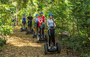 Segway rainforest discovery tour in Conway National Park