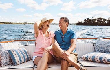 Couple enjoying a Sydney Harbour cruise
