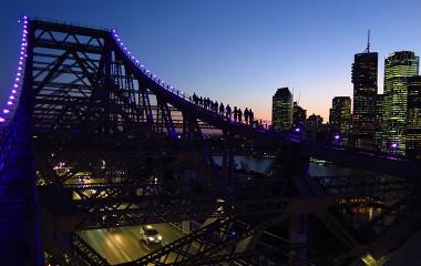 Group twilight climb, Brisbane's Story Bridge