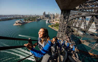 Group climbing the Sydney Harbour Bridge