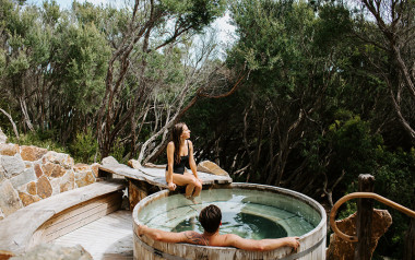 Private bathing experience at Peninsula Hot Springs