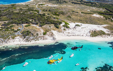 private helicopter flight to rottnest island