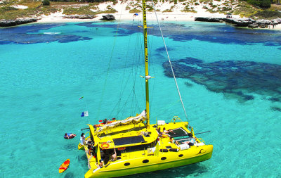 Sailing catamaran cruise, Rottnest Island