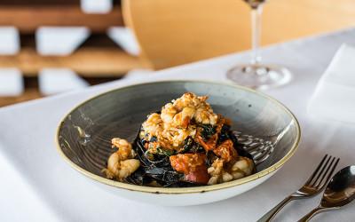 Seafood pasta at Otto Ristorante Brisbane