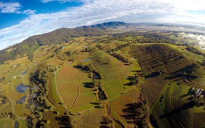 Aerial view of the Hunter Valley