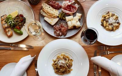 Winery lunch Italian food