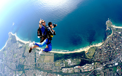 Tandem skydive over Wollongong