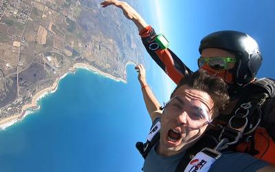 Tandem skydive over Great Ocean Road