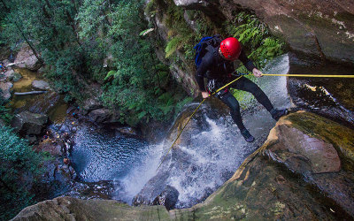 Canyoning and abseiling adventure in the Blue Mountains