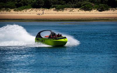 Jet boating Phillip Island