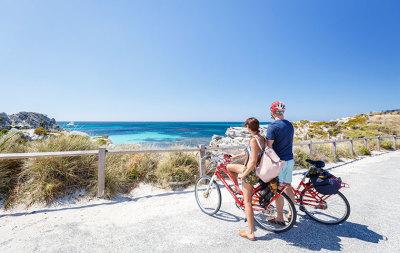 ferry ride, snorkel and bike hire rottnest island