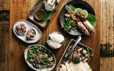 5 course south east asian lunch at Rock Paper Scissors
