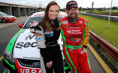 V8 race car driving experience with John Bowe