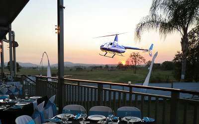 Helicopter pub crawl Queensland