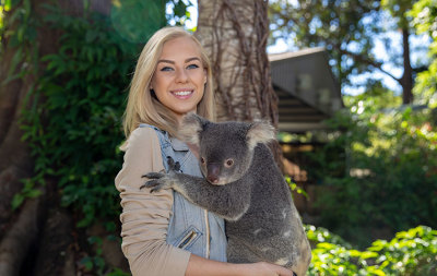 Currumbin Wildlife Sanctuary Entry with Koala Photo