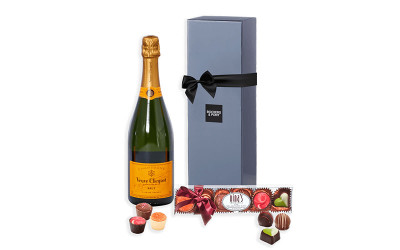Veuve and Nina's Belgian Chocolates hamper