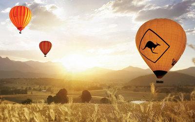 Hot air balloon ride over Atherton Tablelands