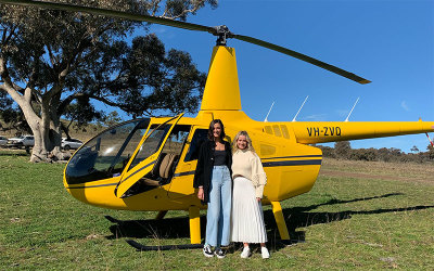 Helicopter flight over mudgee
