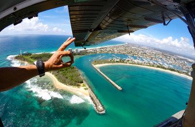 Seaplane flight over Sunshine Coast Queensland