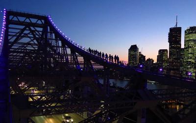 Brisbane Story Bridge twilight climb
