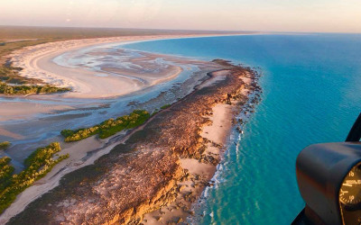 Scenic helicopter flight over Broome