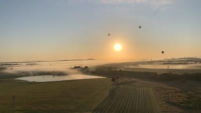 hunter valley hot air balloon