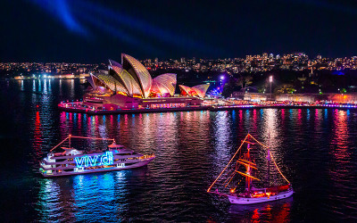 Vivid Sydney harbour cruise