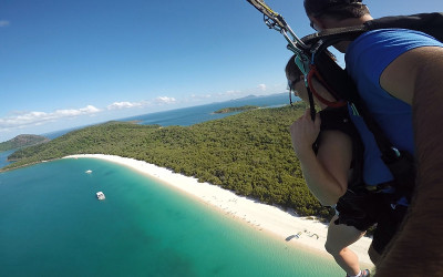 Tandem skydive over Whitehaven Beach - up to 15,000ft