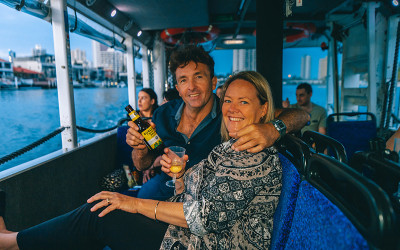 Aquaduck city tour and sunset cruise with drink