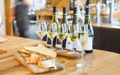 NSW: Wine flight with fresh truffle baked camembert