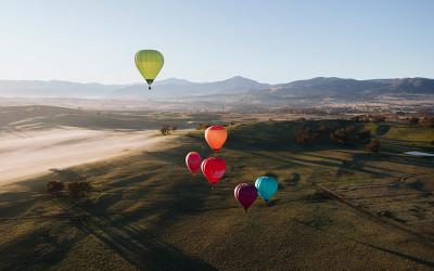 Mansfield hot air balloon flight Victoria