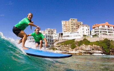 Surfing lesson Bondi Beach