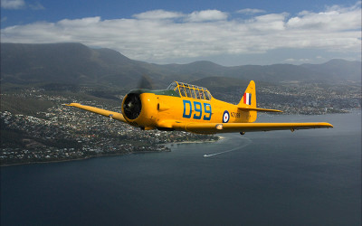 Scenic flight over Hobart Tasmania