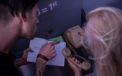Couple in escape room