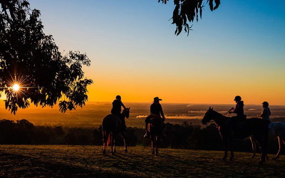 Sunset horse riding tour