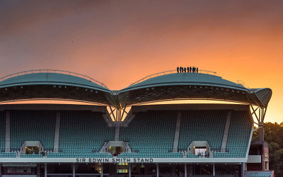 Adelaide oval twilight roof climb