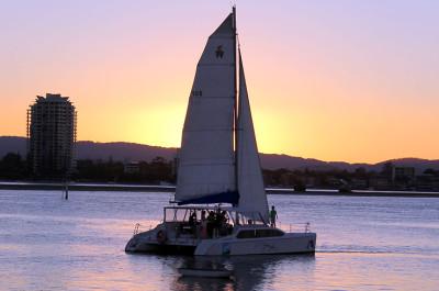 Sunset catamaran cruise Gold Coast