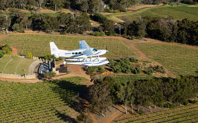Seaplane winery tour, Perth to Margaret River