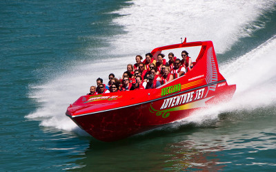 Jet boat ride in Auckland