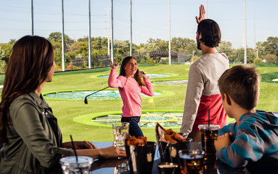 Family at TopGolf Gold Coast, Queensland