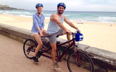 Tandem bicycle hire manly