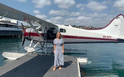 Seaplane flight over Sydney