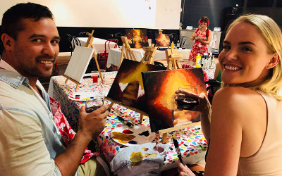 Paint and sip class at XXXX Brewery