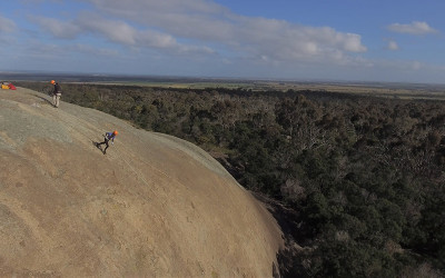 Forward abseiling in the You Yangs