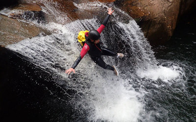 Private rainforest canyoning for two in Albion Park