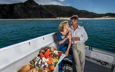 Tasmanian ocean seafood cruise
