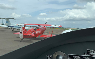 Aerobatic flight over Sydney