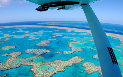 Scenic flight over Great Barrier Reef