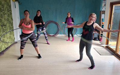 Online hula hoop class